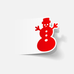realistic design element: christmas snowman