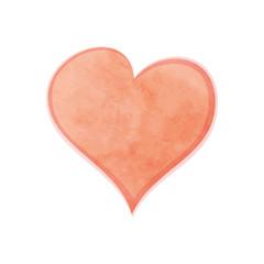 Watercolor heart.