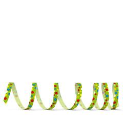 Luftschlange, Papierschlange, Karneval, Grußkarte, Spirale, grün