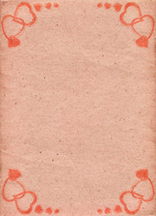 Pale-pink paper with pattern of hearts. Love. Valentine's Day