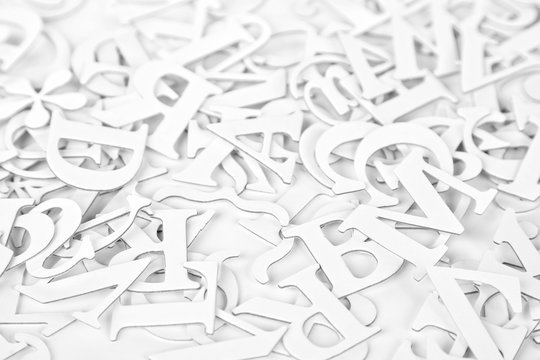White Latin Letters Background