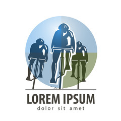 cycling vector logo design template. sports or bike icon