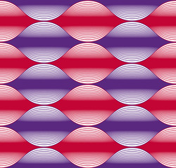 Seamless wave lines pattern, abstract geometric background, vect