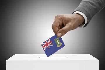 Ballot box and national flag - British Virgin Islands