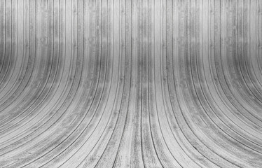 Wood background with curved planks