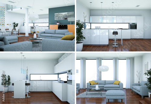 modernes Loft Interieur Design\