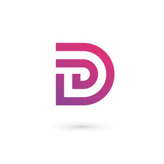 Letter D logo icon design template elements