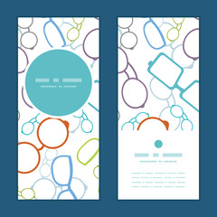 Vector colorful glasses vertical round frame pattern invitation