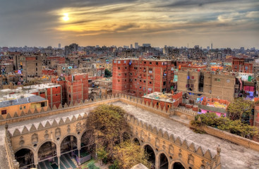 View of Cairo from roof of Amir al-Maridani mosque - Egypt Papier Peint