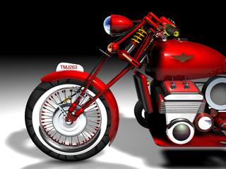 Motocicletta vintage rossa
