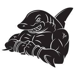 Shark Strong Mascot Tattoo