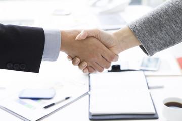 Businessmen have a handshake
