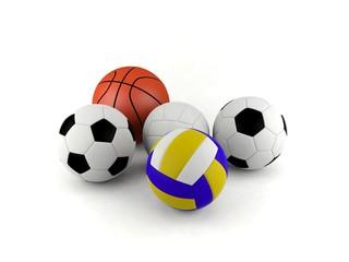 ฺSport balls isolated on white background