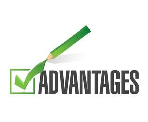 advantages check list illustration design