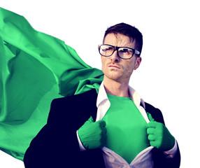 Superhero Businessman Professional Success White Collar Worker