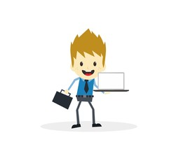 business presentation cartoon character