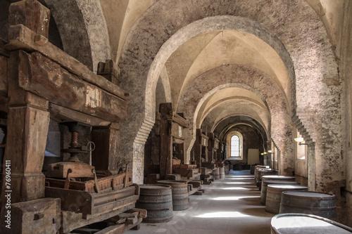 Fototapete Altes Gewölbe auf einem Weingut