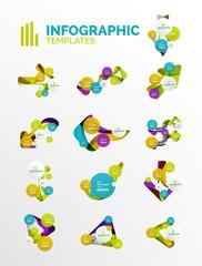Set of modern business infographics