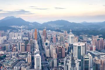 skyline,cityscape of modern city,shenzhen