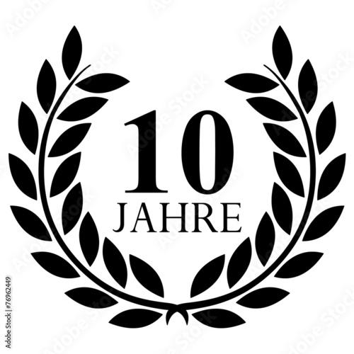 Lorbeerkranz 10 Jahre Jubilaum Stockfotos Und Lizenzfreie Vektoren