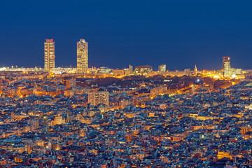 Barcelona at night seen from Mount Tibidabo