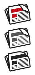 journal newsletter picto vecteurs
