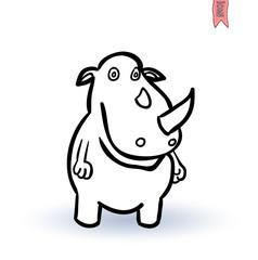 rhino, vector illustration