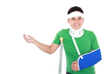 injured young man