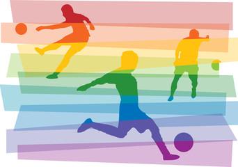 calciatori strisce arcobaleno