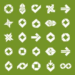Abstract unusual vector symbols set, creative stylish icon templ