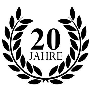 Lorbeerkranz. 20 jahre jubiläum