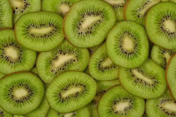 Sliced kiwi fruit background