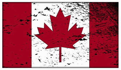 Canadian Flag Grunged