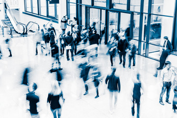 People at a trade fair