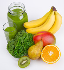 Green Smoothie With Three Greens And Fruits