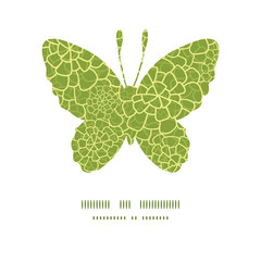 Vector abstract green natural texture butterfly silhouette