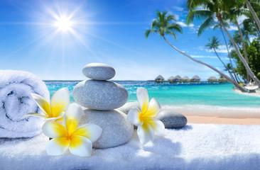 spa treatment on tropical beach