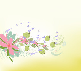 spring with Flower background Designs
