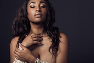 Beautiful African American woman.