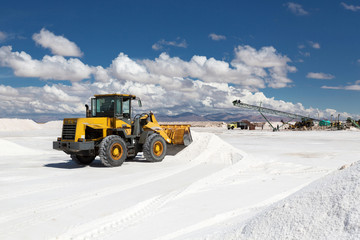 Salinas Grandes. Salt production