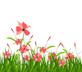 spring with flower
