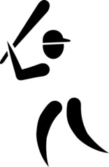 Baseball Pictogram Player