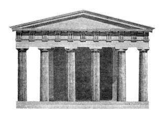 Wall Mural - Victorian engraving of the Temple of Hephaestus, Athens