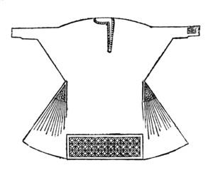 Victorian engraving of an alb robe