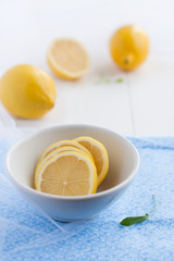 lemons and lemon slices