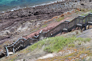 Tourist walking path. Hallett Cove Conservation, Adelaide.
