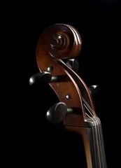 Scroll on a Cello.