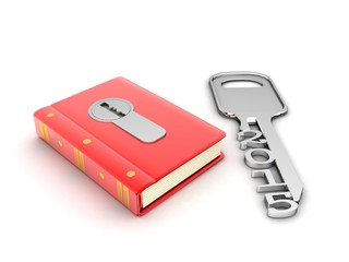 red book with lock