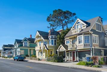 Street in Pacific Grove, Monterey, California, USA Wall mural