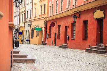 Obraz Centrum Lublina, kolorowa uliczka - fototapety do salonu